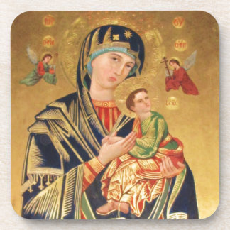 Russian Orthodox Icon - Virgin Mary and baby Jesus Beverage Coaster