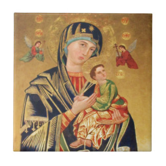 Russian Orthodox Icon - Virgin Mary and baby Jesus Ceramic Tile