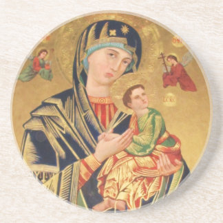 Russian Orthodox Icon - Virgin Mary and baby Jesus Drink Coaster
