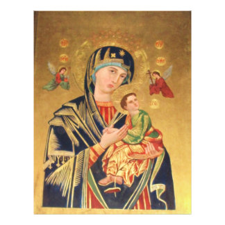 Russian Orthodox Icon - Virgin Mary and baby Jesus Full Color Flyer