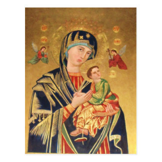 Russian Orthodox Icon - Virgin Mary and baby Jesus Postcard