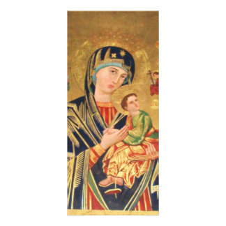 Russian Orthodox Icon - Virgin Mary and baby Jesus Rack Card