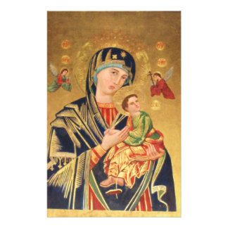 Russian Orthodox Icon - Virgin Mary and baby Jesus Stationery