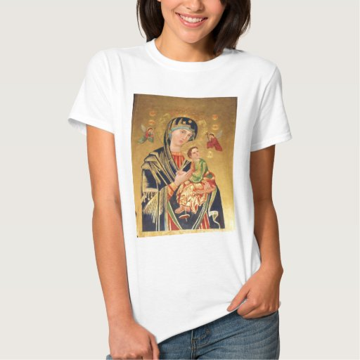 Russian Orthodox Icon - Virgin Mary and baby Jesus Tee Shirt