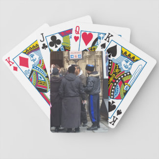 Russian Orthodox Priest outside Paris Notre Dame Bicycle Playing Cards