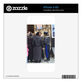 Russian Orthodox Priest outside Paris Notre Dame iPhone 4 Decals