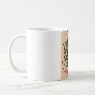 Russian Owl Tattoo Design Coffee Mug