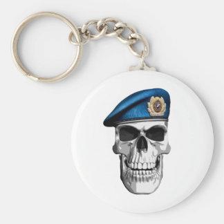 Russian Para Basic Round Button Keychain