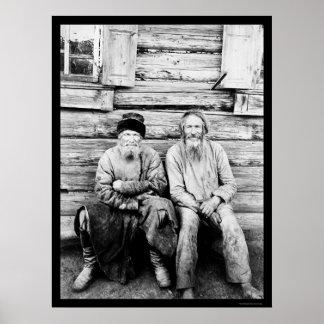 Russian Peasants Log Cabin 1895 Print