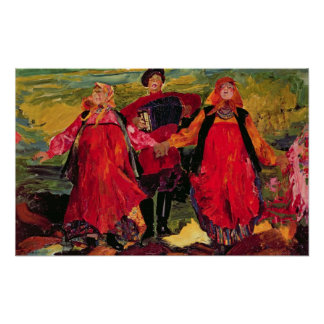 Russian Peasants Singing Poster