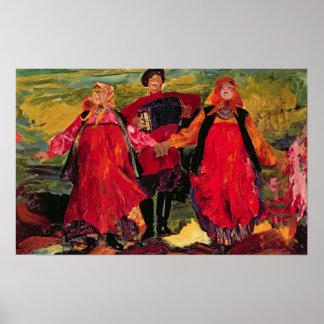 Russian Peasants Singing Poster