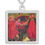 Russian Peasants Singing Silver Plated Necklace