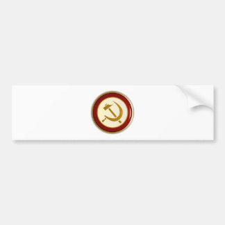 Russian Pin Badge Bumper Sticker