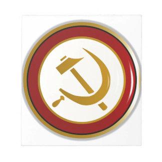 Russian Pin Badge Notepad
