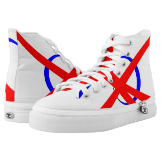 Russian Portal Red White and Blue Hi-Top