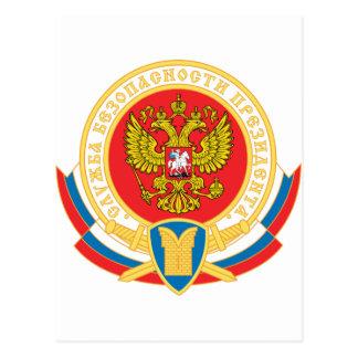 Russian president's security emblem postcard