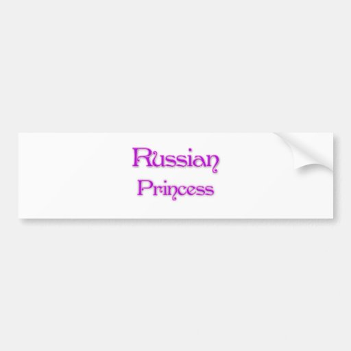 Russian Princess Car Bumper Sticker