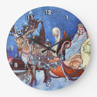 Russian Princess Charles Robinson Illustration Large Clock