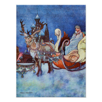 Russian Princess Charles Robinson Illustration Poster