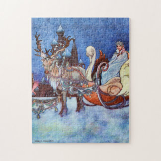 Russian Princess Winter Scene by Charles Robinson Jigsaw Puzzle