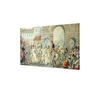 Russian Prisoners Paraded on the Boulevard Canvas Print