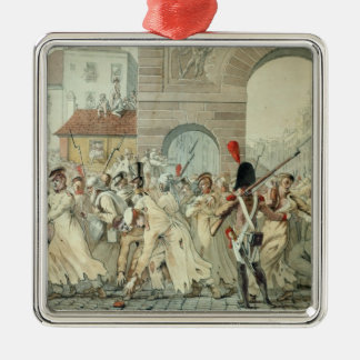 Russian Prisoners Paraded on the Boulevard Metal Ornament