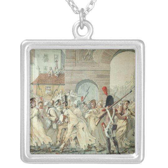 Russian Prisoners Paraded on the Boulevard Silver Plated Necklace