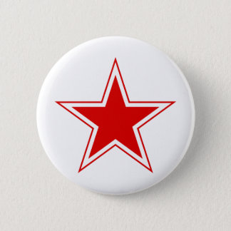 Russian Red Star Pinback Button