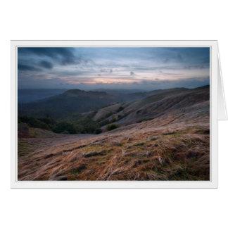 Russian Ridge at Sunset Card
