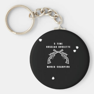 Russian Roulette Keychain