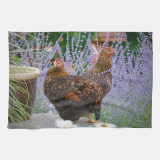 Russian Sage and Hen Kitchen Towel