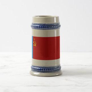 Russian SFSR Flag 18 Oz Beer Stein