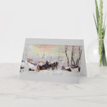 Russian Sleigh Ride Holiday Card