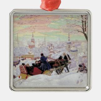 Russian Sleigh Ride Metal Ornament