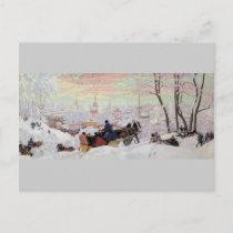 Russian Sleigh Ride Postcard