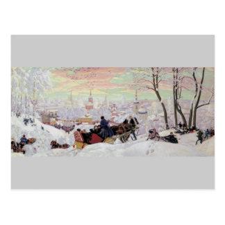 Russian Sleigh Ride Post Card