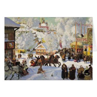 Russian Snow Scene Christmas Card