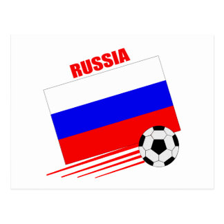 Russian Soccer Team Postcard