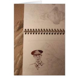 Russian Soldier Sketchbook Card