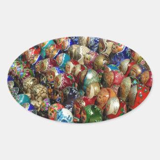 Russian souvenirs Oval Sticker
