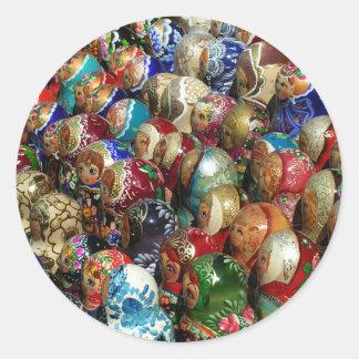 Russian souvenirs Round Sticker