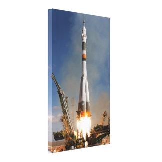 Russian Soyuz Liftoff - October 12, 2008 Canvas Print