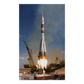Russian Soyuz Liftoff - October 12, 2008 Poster