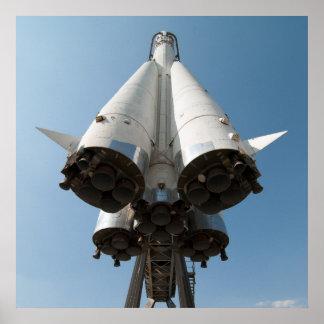Russian spaceship Vostok Poster