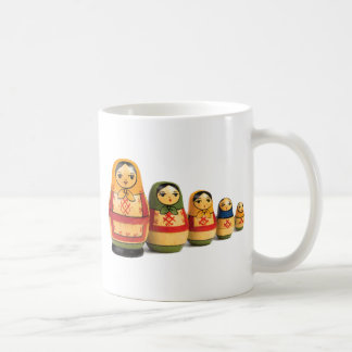 Russian stack dolls coffee mug
