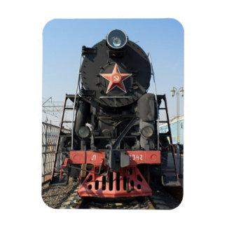 Russian steam locomotive L-2342. Built in 1954 Rectangular Photo Magnet