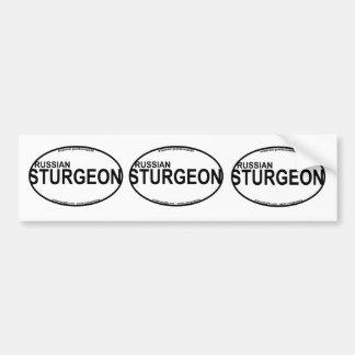 Russian Sturgeon Euro Stickers Car Bumper Sticker