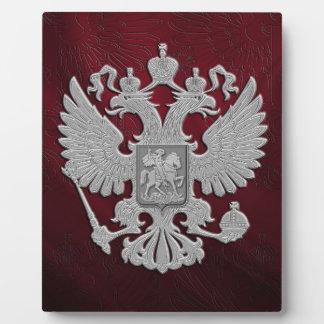 Russian symbol flag red plaque