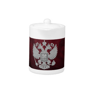 Russian symbol flag red teapot