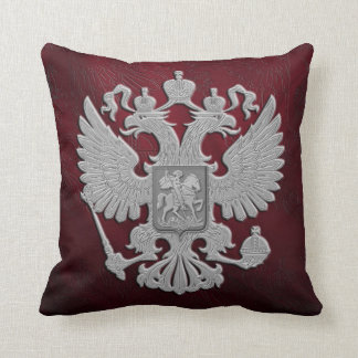 Russian symbol red flag throw pillow